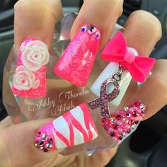 Breast Cancer Awareness  by CrystalNailsAsh from Nail Art Gallery
