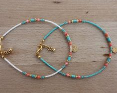 Items similar to Aqua Green Seed Beads&Coral,Turquoise and Gold Plated Hamsa Hand Ethnic,Authentic Anklet on Etsy Anklet Bracelet, Bracelet Set, Rosa Coral, Seed Bead Bracelets, Seed Beads, Bohemian Jewelry, Unique Jewelry, Ankle Jewelry, Turkish Jewelry