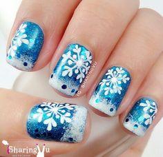 Image via We Heart It https://weheartit.com/entry/151088035 #christmas #nail #nailart #nails #seasons #snow #winter #nailart