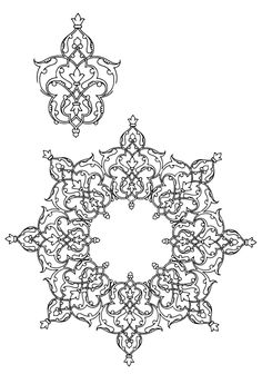 persian islamic patterns black and white - Google Search