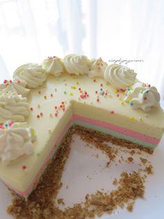 Rainbow Cheesecake Recipe  https://simplymycorner.wordpress.com