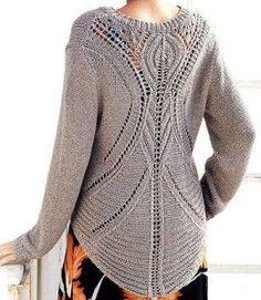 Modèle de chandail de tricotè ajouré à l'arrière   Main Senpolia