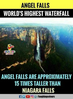 Angel Falls located in Venezuela Amazing Places On Earth, Beautiful Places To Travel, Cool Places To Visit, Interesting Science Facts, Interesting Facts About World, Some Amazing Facts, Unbelievable Facts, Wow Facts, Wtf Fun Facts