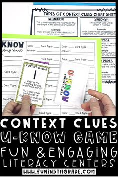 Context clues UKNOW review game is a fun and engaging way to practice definition, antonym, synonym, examples