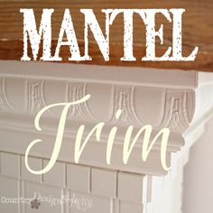 If you enjoyed this...share it!Mantel trim is the last part of a three series on building a faux mantel. Now that the base is done…you can read more here… it's time to add trim and molding.  Trim and molding is personal. You may want to consider the trim and molding in the room.  Does it need to match or not?? Will you be painting the