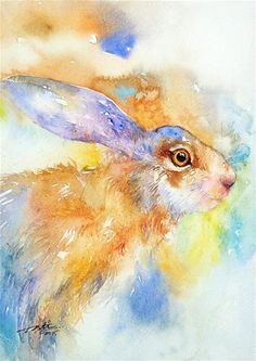 """Daily+Paintworks+-+""""Camouflage+hare""""+-+Original+Fine+Art+for+Sale+-+©+Arti+Chauhan"""