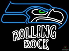 Rolling Rock Seattle Seahawks Neon Sign NFL Teams Neon Light
