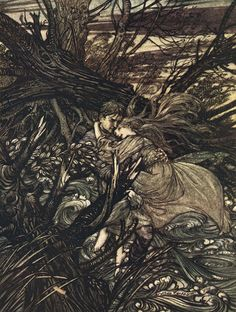 And finally i was to the tree what the tree was to me, resting, breathing and never to part again, with the roots rooted deep in the hollow soil. arthur rackham