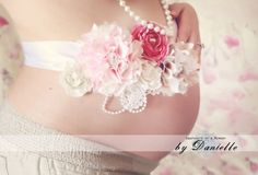 Beautiful Custom Maternity Sash/ Bridal Sash/ by ElleBelleCouture on etsy.com This is a neat idea. @Tracey Taylor