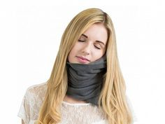 Trtl's napscarf, discovered by The Grommet, gives you soft-but-strong support so you can rest in a comfortable position no matter where you're sitting.
