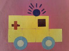Ziekenauto met plakfiguurtjes Diy And Crafts, Crafts For Kids, Arts And Crafts, People Who Help Us, Community Helpers Preschool, The Gruffalo, Teaching English, Preschool Crafts, Kindergarten
