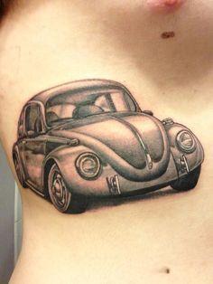 If my dad got tattoos this may be one! Vw Tattoo, Beetle Tattoo, Car Tattoos, Bull Tattoos, Sleeve Tattoos, Tatoos, Nice Tattoos, Disney Tattoos, Vw Emblem