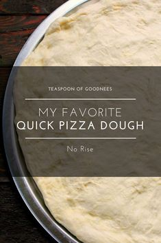 Whip up this delicious homemade pizza dough in no time, and then you can top with your favorite pizza toppings. This pizza crust recipe never fails my family and it's a no rise pizza crust recipe! Homemade Pizza Crust Recipe, Making Homemade Pizza, Dough Recipe, Bread Making, No Rise Pizza Dough, Easy Pizza Dough, Crust Pizza, Pizza Pizza, Flatbread Pizza Recipes