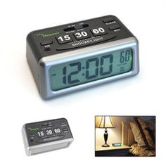 The easy-to-use Napper Clock is two alarm clocks in one. The Napper Clock is easy-to-use and functions like traditional alarm clock. $14.95 via inventhelpstore.com