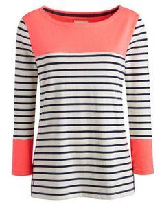 HARBOURWomen's Striped Jersey Top