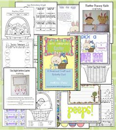 Fun easter unit with Prize egg glyph, graphing, craftivities, classroom management, and more.