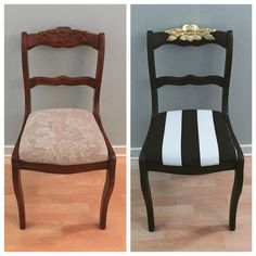 Duncan Phyfe rose chair- from drab to Kate Spade inspired fab.