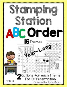 Literacy station to practice letter names and ABC order - great alphabet activity!