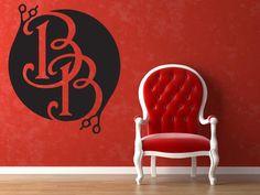 Wall Vinyl Sticker Decals Mural Room Design Decor Art Barber Shop Haircut Salon Logo Scissors bo2418 by RoomDecalsAndDesigns on Etsy