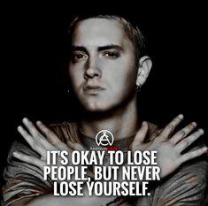 Never lose yourself! Any eminem fans? Never lose yourself! Any eminem fans? The post Never lose yourself! Any eminem fans? appeared first on Best Pins for Yours - Life Quotes Eminem Lyrics, Eminem Rap, Eminem Quotes, Rapper Quotes, Lyric Quotes, Motivational Quotes, Inspirational Quotes, Eminem Memes, Eminem Music
