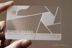 business cards - Google Search I like how creative this one is. The design is simple but the font is interesting and adds to the feel of the card.