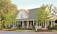 Pretty, White Modern Farmhouse - Let's just do a wrap around porch ;)