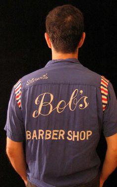 vintage ladies plain bowling shirts/ barber - Google Search