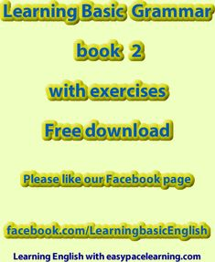 Learning basic grammar pdf book 2 with over 80 exercises