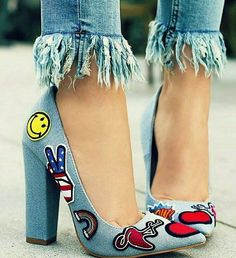 cool blue shoe