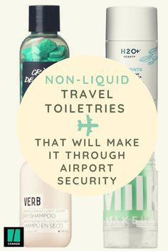 To take the stress out of packing, we've found non-liquid alternatives to your everyday toiletries. Carry On Toiletries, Packing Toiletries, Packing Tips For Vacation, Travel Packing, Cruise Vacation, Disney Cruise, Vacation Destinations, Packing Tricks, Travel Advice