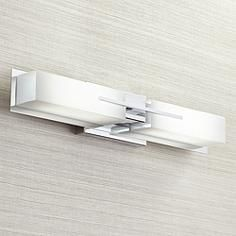 "Possini Euro Midtown 23 1/2"" Wide Chrome LED Bath Light"