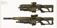 ArtStation - Modular Rifle, Studio Qube