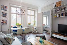 estante TV | passagem pro quarto | sala de jantar | lustre