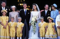 Sep 1994 - (L-R) Father of the Bride, Grand Duchess Josephine-Charlotte, Guillaume, Sibilla Weiller, Grand Duke Jean and Mother of the Bride