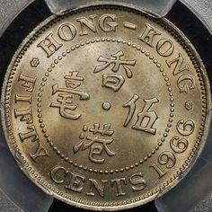 Hong Kong 50 Cent Coins Asia Asian Cheap & Cheerful