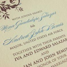 Double ampersands! && #letterpress #weddinginvitations
