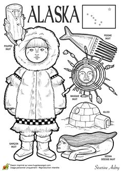 World Travel Nursery Etsy Around The World Theme, Costumes Around The World, Geography For Kids, World Geography, Paper Doll Costume, Paper Dolls, Colouring Pages, Coloring Books, Alaska