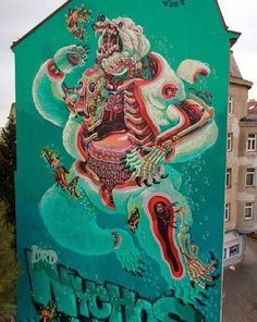 "behind_streetart: ""This is EPIC!  #streetartists: Nychos #streetart title: dissection of a polar bear  where: #Vienna #Wien #Austria #created: #2015  #who is the #global #artist: Nychos is an artist and #illustrator from Austria from Vienna. His interest in anatomy has greatly influenced his artwork. The #Austrian combines a #cartoon style illustration with an exploded view drawing technique to create intriguing and often larger-than-life #murals. Nychos is also the founder of the art…"