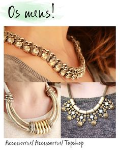 Gold maxi necklace. Silver maxi necklace. Maxi colar ouro velho. Maxi colar prata. Maxi colar topshop. Maxi colar accessorize. #blogdemoda #fashionblog como usar