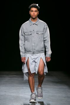 A look from the Christopher Shannon Spring 2016 Menswear collection.