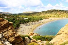Vai beach in Lasithi, Crete, a sandy tropical beach which hosts the largest palm forest in Europe! Crete, Greek Islands, Around The Worlds, Europe, The Incredibles, Landscape, Beach, Places, Travel