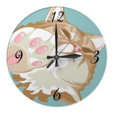 Kitty Cat Wall Clock by PetsandVets  http://www.zazzle.com/kitty_cat_wall_clock-256944979304109320?rf=238346027810244797