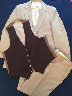 247ef7dfebc01 Details about Vtg 70 s Sears Disco Leisure Suit 3 Pc Polyester Tan Pants 38  X 33 Jacket 44L. Tan PantsVintage MenVintage OutfitsPcEbaySuitsMature ...