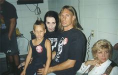 """Manson with the boy who was in the music video for """"Lunchbox"""""""