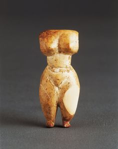 Carved Ivory Mesopotamian Votive Figurine of the Goddess Ishtar, Circa 3000 BCE. Ishtar, known as Inanna to the Sumerians, was universal as a goddess in various forms in the ancient middle east. She was the Akkadian supreme goddess of sexual love and fertility and was also the goddess of war, 'the lady of battles'. Her symbol was an eight pointed star that was identified with the planet Venus; later the Romans knew her by this name.