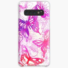 'Pink butterflies' Case/Skin for Samsung Galaxy by knovadesign Pink Butterfly, Butterflies, Phone Covers, Iphone Wallet, My Arts, Samsung Galaxy, Art Prints, Printed, Awesome