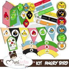 """Muriartes Blog: """"Angry Birds"""" Party Kit including Banner."""