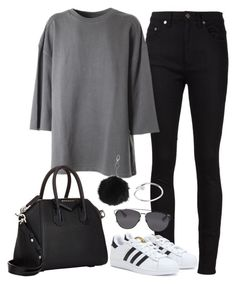 """""""YZY SZN 1"""" by fashionbyedith ❤ liked on Polyvore featuring Yves Saint Laurent, adidas Originals, adidas, Givenchy, Topshop and Christian Dior"""