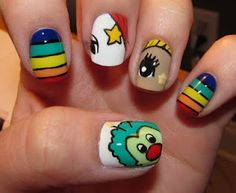 Rainbow Brite nails! LOVE!