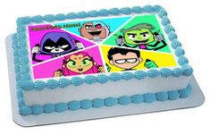 Teen Titans Go 4 Edible Birthday Cake OR CupcakeTopper – Edible Prints On Cake (EPoC)